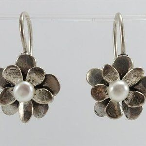 Silpada Pearl Flower Earrings